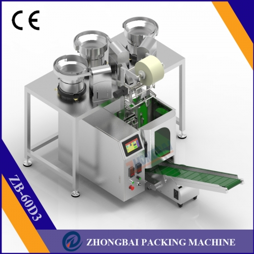 Counting Packaging Machine with Three Bowls