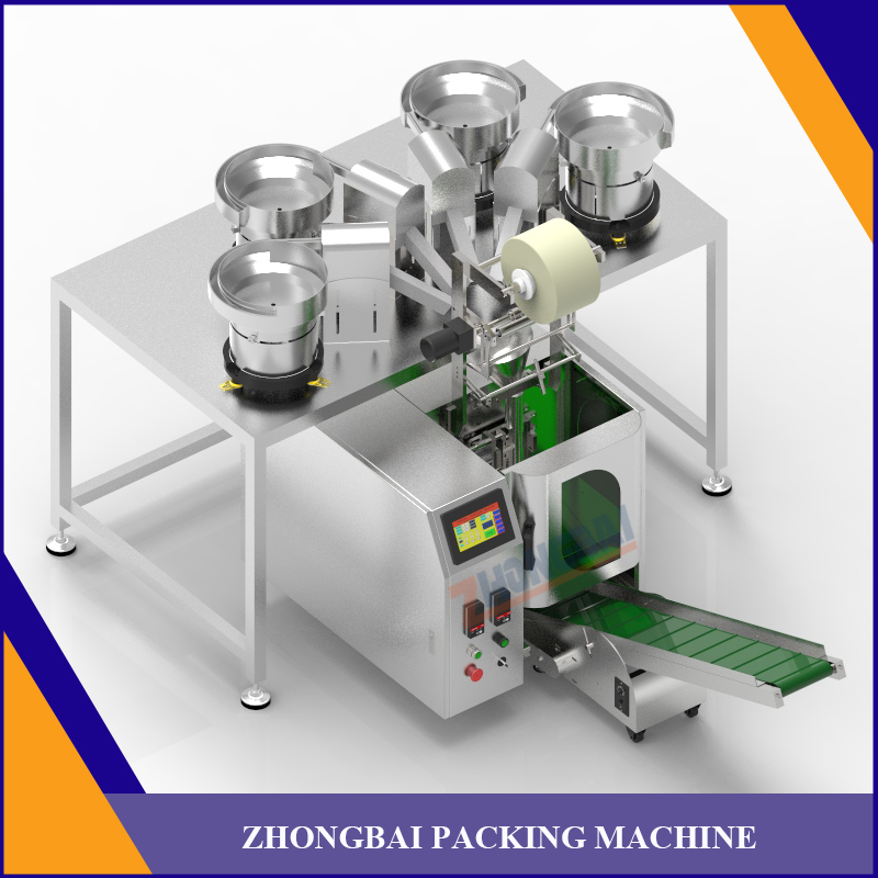 Counting Packing Machine with Four Bowls