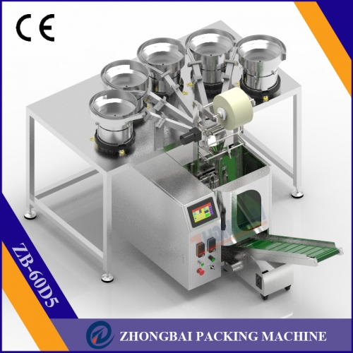 Counting Packing Machine with Five Bowls